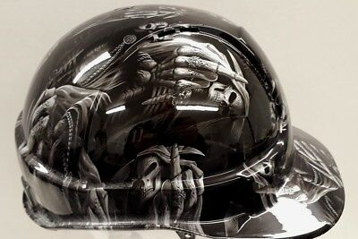 safety hard hat / helmet - Up your's reaper design- fully BS EN397 compliant