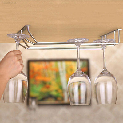 Creative Upside Down Double Row Stainless Steel Wine Red Wine Bottle Holder Rack