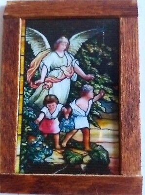 Dolls House Stained glass look Picture (Angel looking over children)