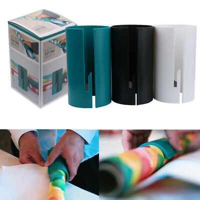 New Little Cutting Sliding Wrapping Paper Gift Roll Cutter Made Easy and Fun