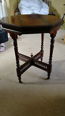 Small mahogany card table side table victorian antique