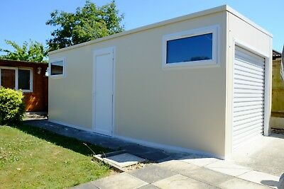 Bespoke Modular Garage / Workshop. Fully insulated eliminating damp environments