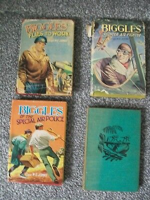 8 Biggles Books Dust Jackets We Johns