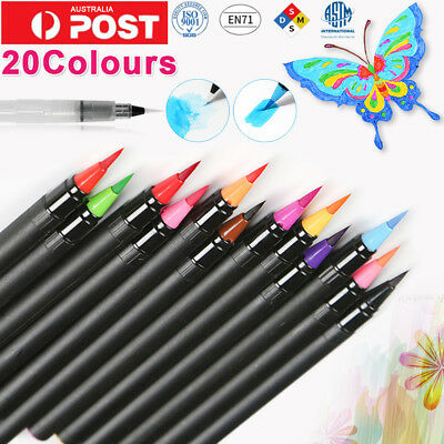 2018 20 Colours Soft Artist Oil Watercolor Drawing Painting Brush Sketch Pen Set