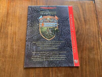 Birthright Conspectus - AD&D 2nd Edition TSR