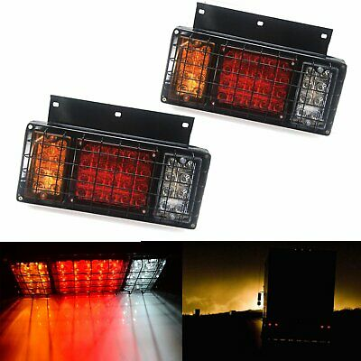 Pair 12V Rear Stop LED Lights Tail Indicator Lamp Trailer Truck CARAVAN Cars