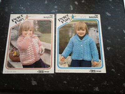 Pair Vintage Peter Pan Darling Chunky Toddlers Knitting Patterns No Reserve