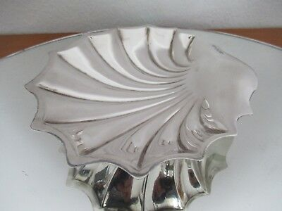 Solid Silver Shell Shaped Dish Made In Sheffield 1917 Fully Hallmarked & Heavy