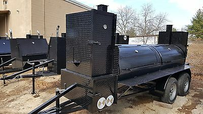 Big Smoky BBQ Smoker Grill Trailer Business Food Truck Concession Street Vendor