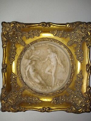 Carved ?marble relief plaque E W Wyon. 1848