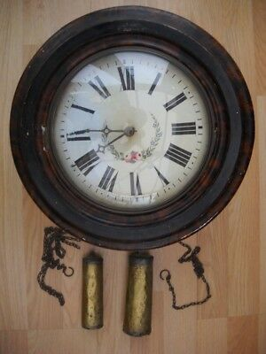 Antique Postmans Clock For Restoration Or Spares.