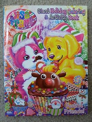 NEW Christmas Lisa Frank Giant Holiday Coloring Activity Book Festive Friends