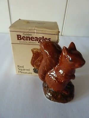 Beneagles Scotch Whiskey Red Squirrel Minuture Empty