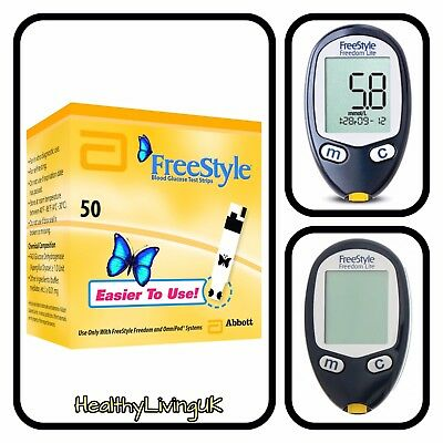 FreeStyle FREEDOM LITE Blood Glucose Test Strips - Brand New - 1 x 50 - RRP £40
