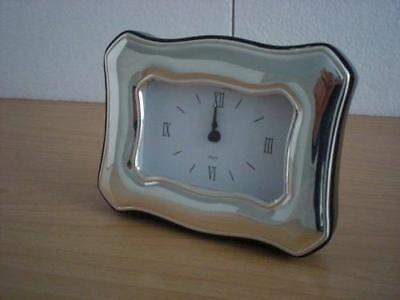 SOLID STERLING SILVER TABLE ALARM CLOCK 6×9 *1002 GB new
