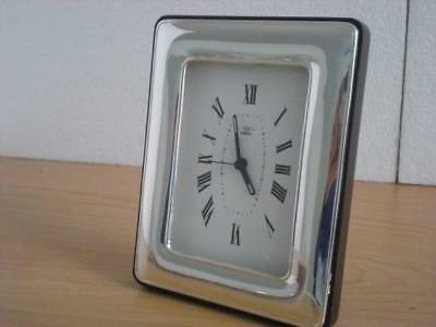SOLID STERLING SILVER TABLE ALARM CLOCK 9×13*1017GB new