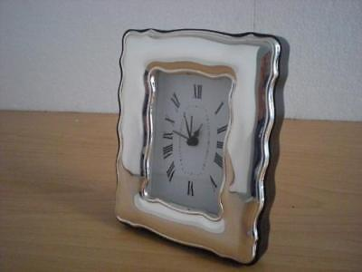 SOLID STERLING SILVER TABLE ALARM CLOCK 6×9 *1001 GB new