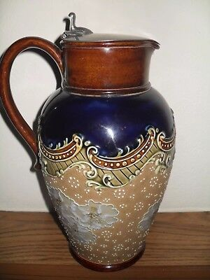 Doulton Lambeth England Slaters  Patent Jug With Lid.