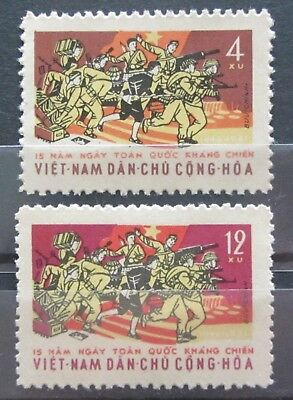 Nord Vietnam 1961 - Nr.190-191 The 15th Anniversary of National Re. Postfrisch**