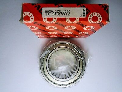 6009.2ZR.J22C FAG METAL SEALED DEEP GROOVE BALL BEARING ( 45x75x16mm )