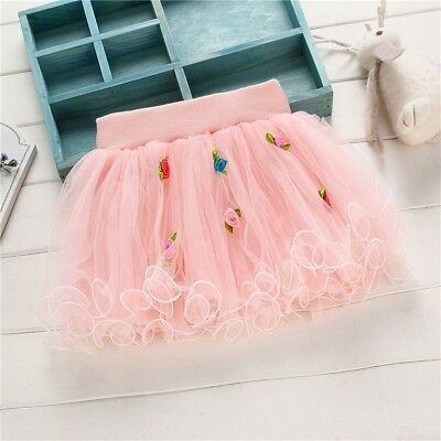 Baby Kids Girls Tutu Skirt Cute Princess Girls Floral Mini Skirts For Party