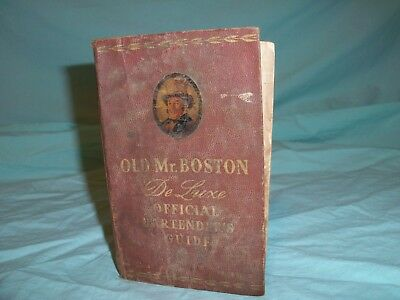 Old Mr.Boston Deluxe Official Bartenders Guide Color Photos 1951
