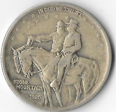1925 Half Dollar Stone Mountain Memorial Circulated Coin