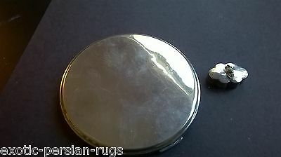 Alarge sterling silver compact PLUS a sterling silver  jeweled pill box Mexico