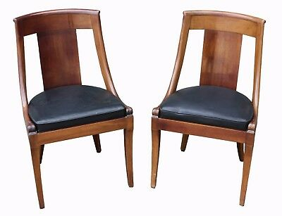 A Pair of Early 20th Century Regence style Mahogany Chairs