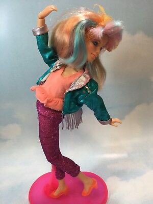 1986 Jem and the Holograms DANSE doll, clothes, shoes, stand, vintage Hasbro