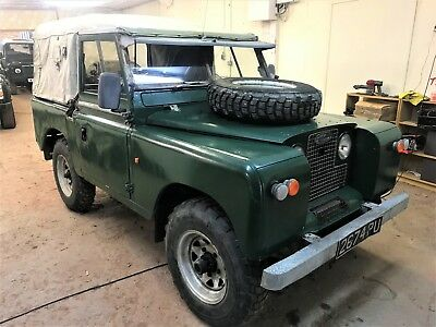 1961 land rover series 2 88in petrol softtop+ratty paint but solid and useable