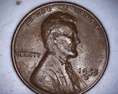 1955 d/d lincoln wheat cent