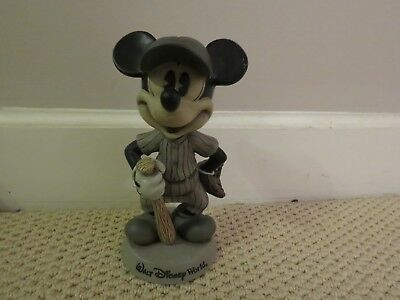 """Disney Mickey Mouse Baseball Bobble Head 81/2"""" Tall Not a Toy GIFT PERFECT COND."""