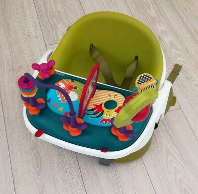 Mamas & Papas Baby Bud Booster snug Seat feed booster removable play tray floor