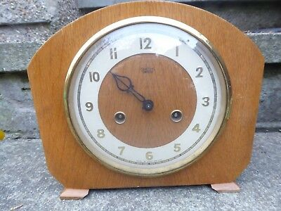 Vintage wooden clock for parts/ repair c.1954 Smiths Enfield