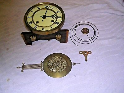 CLOCK  PARTS , MOVEMENT ,FACE, CHIME,  HANDS, PEN &KEY   k