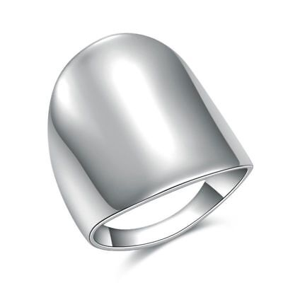 316L Stainless Steel Silver Women Fashion Simple Wide Ring Jewelry Size 7 8 9 10