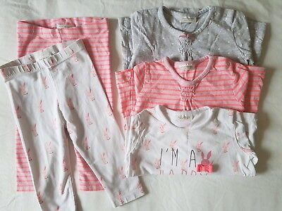 Girls Bundle Next 6-9 month | Leggings & Long Sleeve Tops | 5 items - Good Cond.