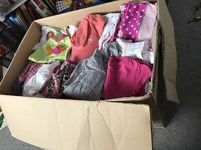 Box of baby/toddler girls clothes
