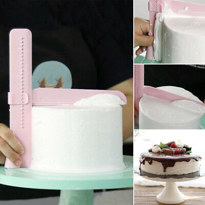 DIY Adjustable Cake Smoother Scraper Tools Fondant Sugarcraft Icing Mold