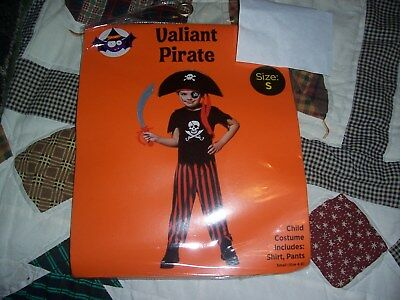 Halloween Costume Valiant Pirate Child S - NIP
