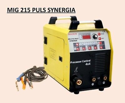 MAGNUM MIG 215 PULS SYNERGIA 4X4 200A Professional welder inverter