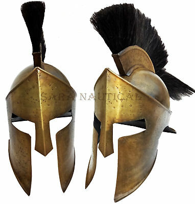 Antique Greek Warrior Costume Medieval 300 Movie King Leonidas Spartan Helmet