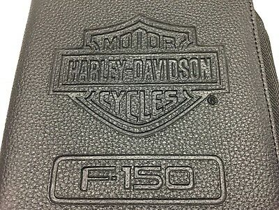 Brand New In Plastic Ford Harley Davidson F150 Leather Owners Manual Cover Case!