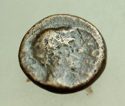 Augustus and Julius Caesar AE 19mm  Macedonia Thessalonica  Very Rare
