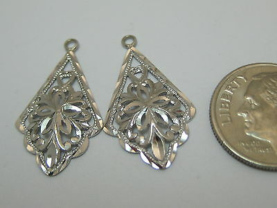 14k Solid White Gold Dangle Earring Jackets Style 629 Made In Usa