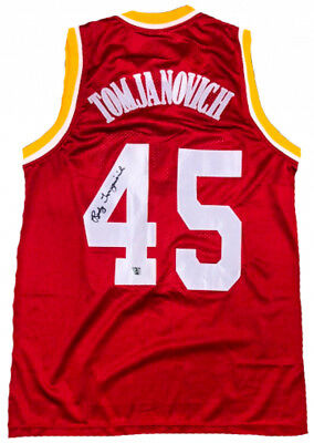 df2a42afa1a Rudy Tomjanovich Signed Houston Rockets Jersey (Rudy T. Hologram)