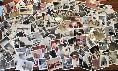 HUGE LOT of 130 Vintage SNAPSHOTS Photos OLD PHOTOGRAPHS 1920's -to-1970s