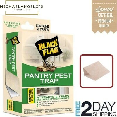 Black Flag Pantry Pest Attract and Trap for Moths and Other Insects 2 Glue Traps