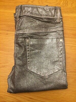 Next Silver Metallic Jeans Age 11 Years
